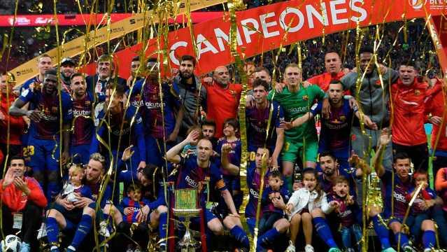 El Barcelona gana la Copa del Rey en el adiós a Iniesta