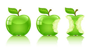 Comerse la manzana entera