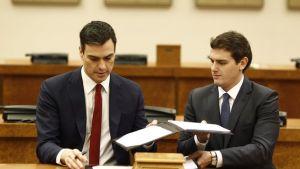 Acuerdo entre PSOE y Cs en 2016