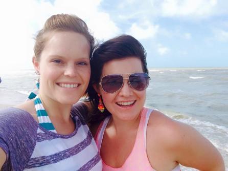 My sister and I in Progreso