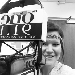 Guest on WTAMU's radio station One 91.1 P.M. in the A.M. morning show talking about Block and Bridle