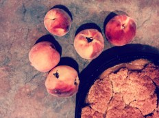 Peaches from the Orchard Mesa Research Center make tasty peach cobbler
