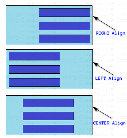 LEFT, RIGHT and CENTER Alignment in Flow Layout