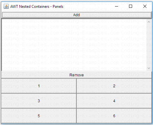 Java AWT Panel Example