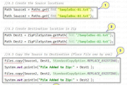Adding Files to Zip File System of Java