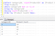 SQL Query with Aggregate, Group By, Order By and Having with Where conditions