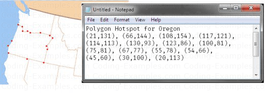 Polygon hot spot points for Oregon