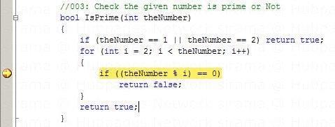 Breakpoint location in code window