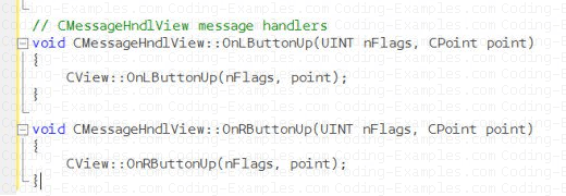 Mouse Message Handling Functions dummy implementation