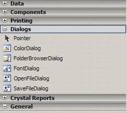 OpenFileDialog & FolderBrowserdialog in Toolbox