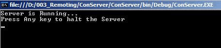 Remote Server in Running State