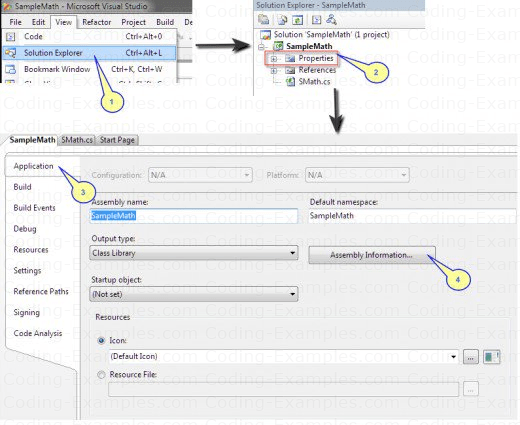 Setting C-Sharp Project Property, Assembly Information