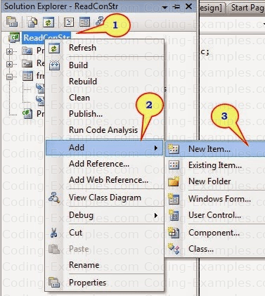 Adding AppConfig File to C# Project