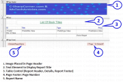 Designing the RDLC Reports - Page Header & Footer, Report Header, Footer & Details