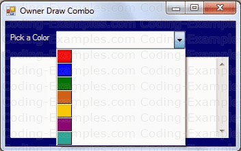 Owner Drawn ComboBox - Stage2 - Tiles With Colors