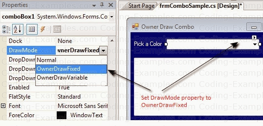 The DrawMode Property of ComboBox