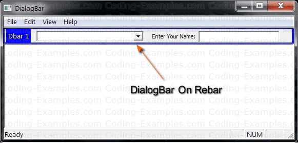 MFC DialogBar Example