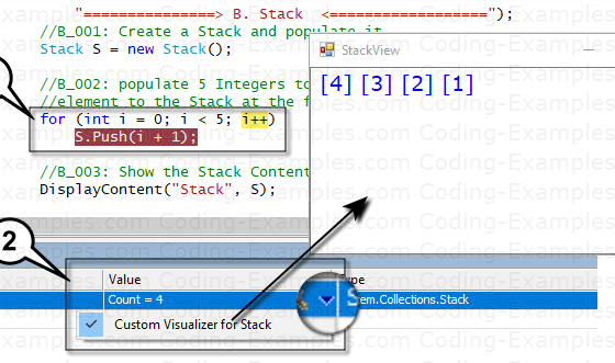 Custom Debug Visualizer - For C# Stack