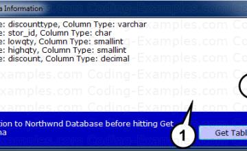 Example Application Screenshot