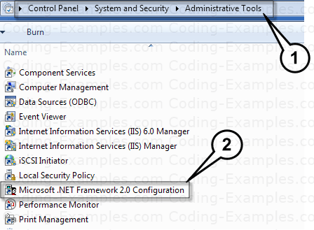 Accessing DotNet Configuration tools