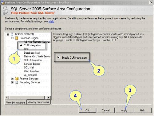 Configure CLR Integration SQL 2005