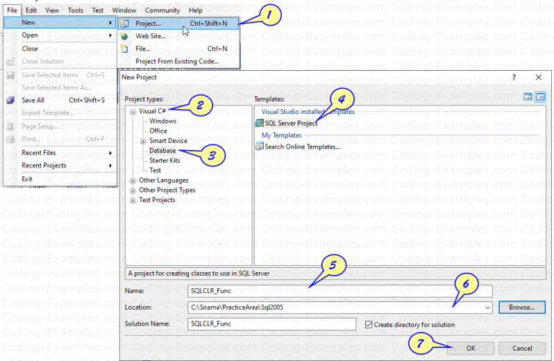 Create New Database Project