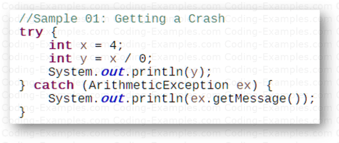 Java Try..Catch Example