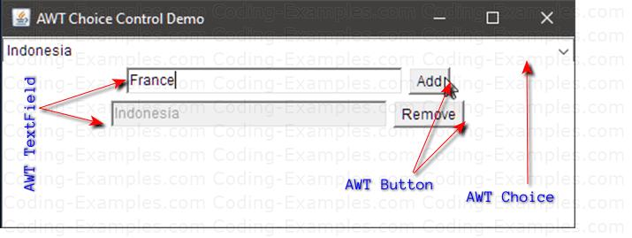 AWT Choice Control Example
