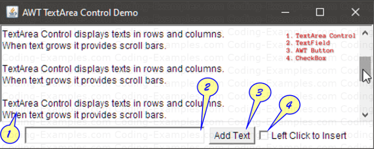 About TextArea Example