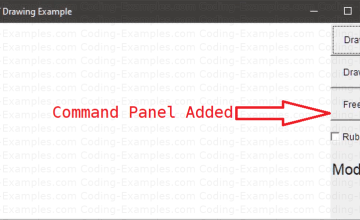 Command Panel in Right Edge