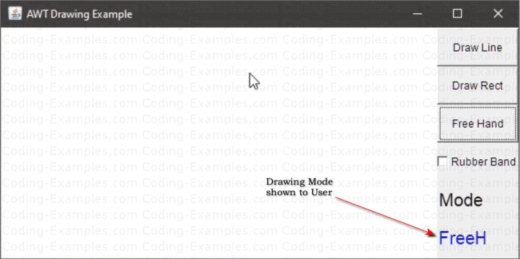 Drawing Mode Shown to User