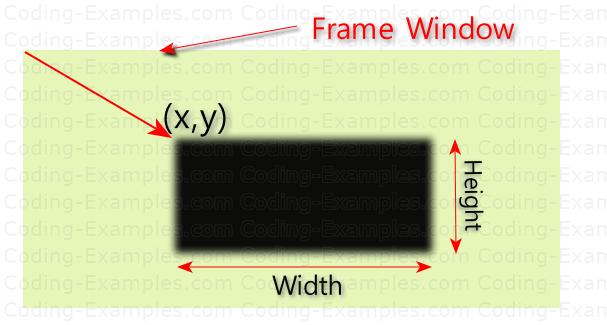 Rect Drawn via drawRect API and Mouse