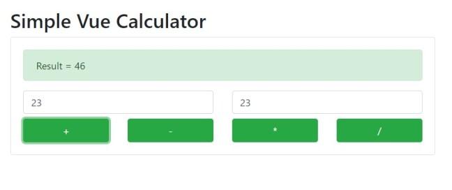 Simple Vue calculator app