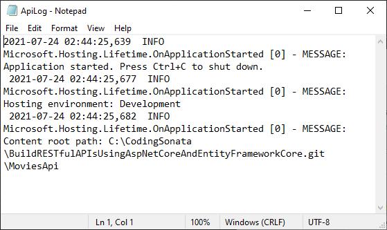 log file of log4net