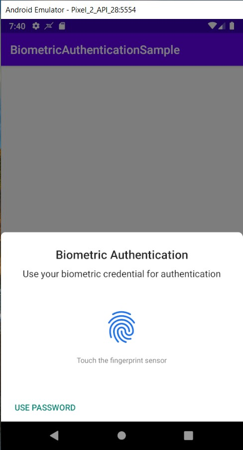 android biometric authentication