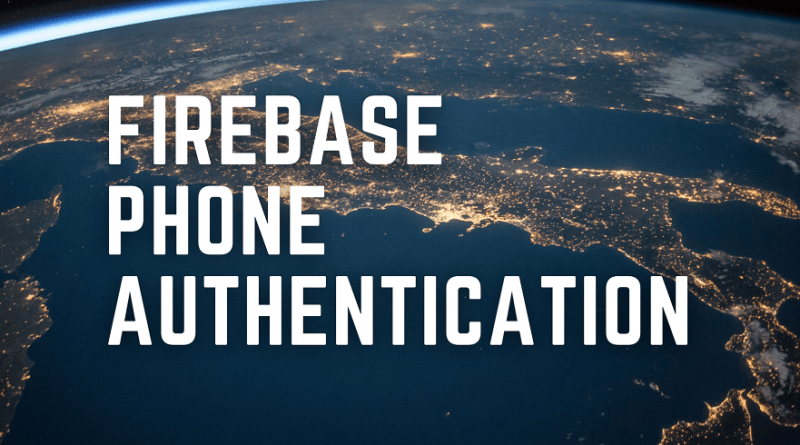 firebase phone authentication flutter