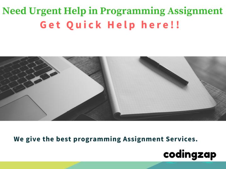 Urgent programming Assignment Help