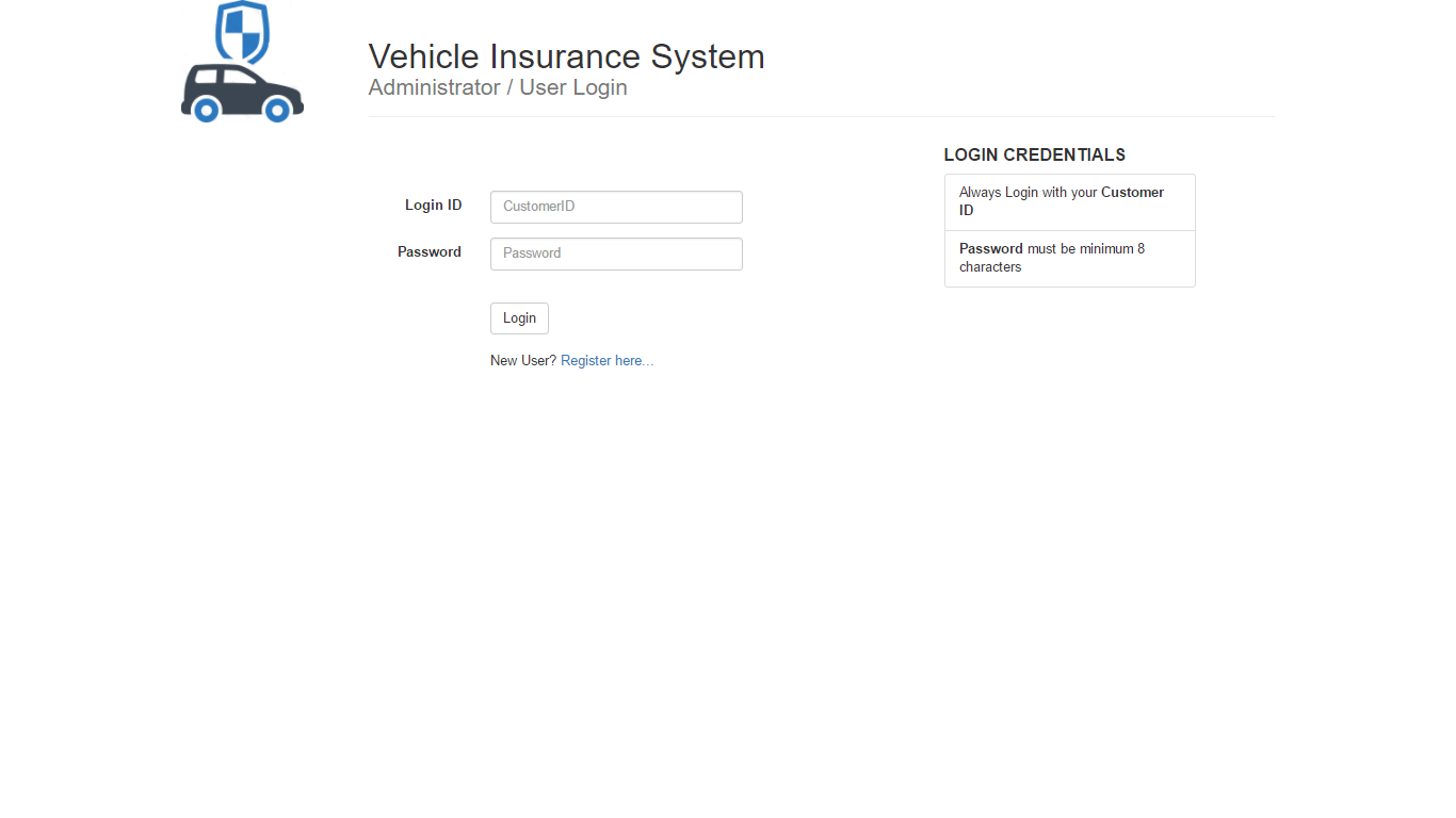 Do my Java Homework - Vehicle Insurance System