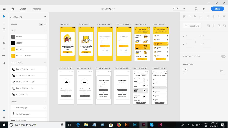 adobe xd UI UX design