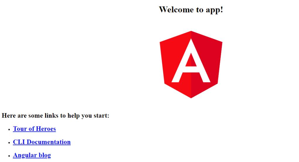 Angular application execution