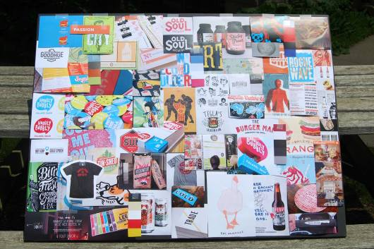 Big Lug's Mood Board centered around the idea of passion and creativity as a differentiator.