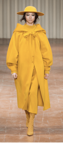 Alberta Ferretti Yellow Coat