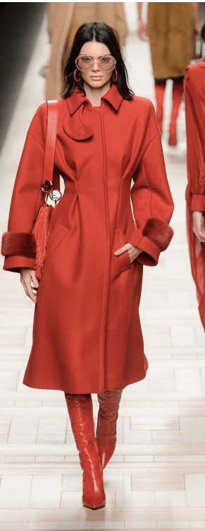 Fendi - Bright Red Long Coat