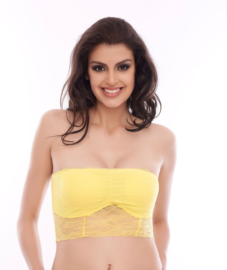 Lace Embrace Padded Wire free Bandeau Bra Pakistan