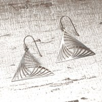 Triangle Earrings, triangle dangle earrings, modern ...