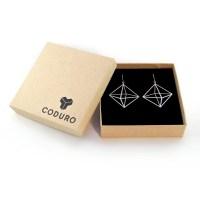 3d Earrings, Art Jewelry, cube earrings, minimal, modern ...