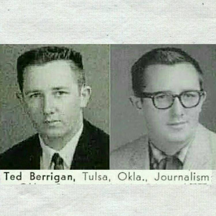 Ted Berrigan, Junior (1958), Senior (1959), University of Tulsa Yearbook