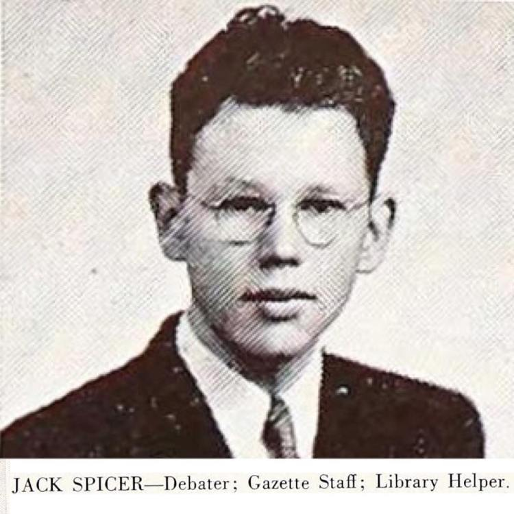 Happy Birthday Jack Spicer, Fairfax High (Los Angeles), 1941