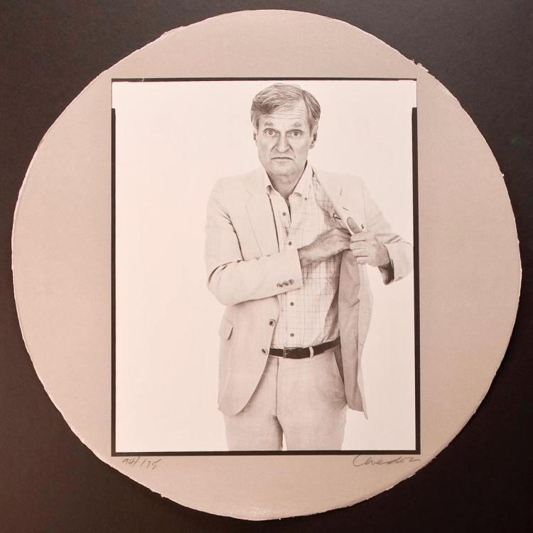 John Ashbery by Richard Avedon, September 27, 1983