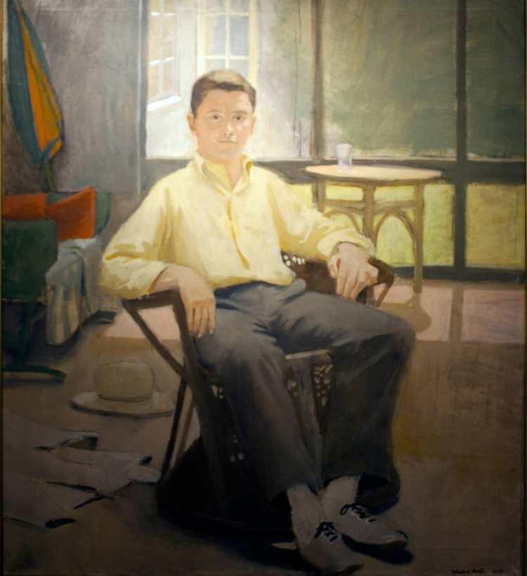 Portrait of James Schuyler by Fairfield Porter, 1955